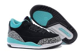 jordan shoes for girls black and blue. nike air jordan 3 retro kids shoes black blue purple for girls and a