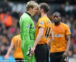 Roger Johnson and Wayne Hennessey nearly come to blows   Daily Mail Online