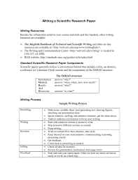 Guide For Writing A Scientific Research Paper