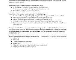 Grad School Resume resume Resumes For Graduate School Compelling Resume For 61