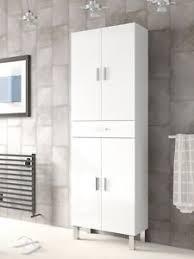white gloss cabinet. Plain White Image Is Loading TallBathroomCupboardWhiteGlossCabinet ShelvingStorage Inside White Gloss Cabinet T