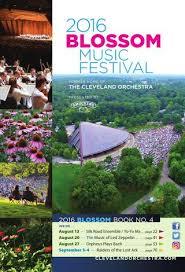 2016 Blossom Music Festival Aug 13 20 27 Sept 3 4
