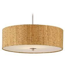 drum pendant lighting. cork drum shade pendant light in nickel finish ceiling fixtures amazoncom lighting