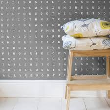 'Sugar And Slugs' Word Search Wallpaper Grey. '