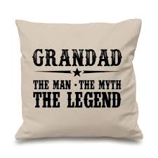 hot grandpa gift grandad cushion er e grandad the man the myth the legend throw pillow case grandfather two sides 18 x18 in cushion er from home