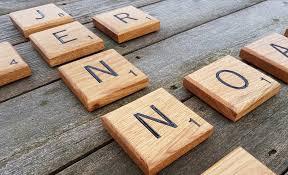 Scrabble Wall Tiles Giant Novelty Solid Oak Scrabble Letters Wall Art Bramble Signs