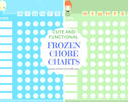 Cute And Functional Frozen Chore Charts Adventures Of A