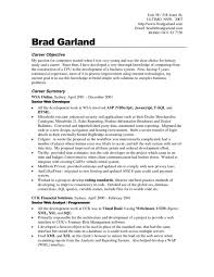 Career Objective Resume Examples For Example Your Training Goals And ...