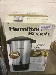Takes just 1 minute to brew each cup*. Hamilton Beach 45 Cup Coffee Urn