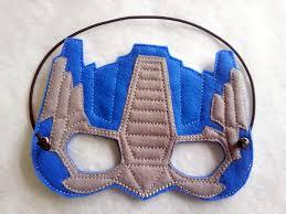 Optimus Prime Embroidery Design 5x7 Blue Transformer Mask Pattern Felt Crafts Optimus