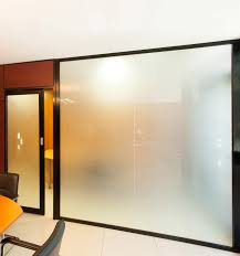 ... Outstanding Home Interior Design With Translucent Sliding Doors :  Modern Home Interior Design With Blur Glass ...