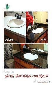 bathroom laminate countertop learn how to refinish laminate counters to look like granite with paint and lite laminate bathroom countertops pros and