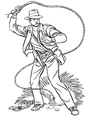 Indiana Jones Coloring Page Coloring Home