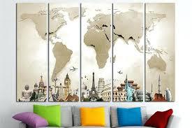 world map canvas print wall art multi panel world map wall zoom diy map panel wall on diy map panel wall art with world map canvas print wall art multi panel world map wall zoom diy