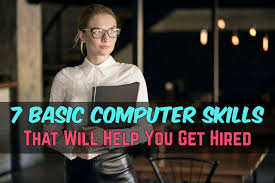 Modern List Of Computer Skills Resume 7 Basic Computers Skills That Are A Must When Entering Job