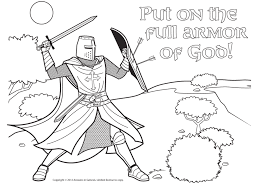 The Armor Of God Coloring Pages - glum.me