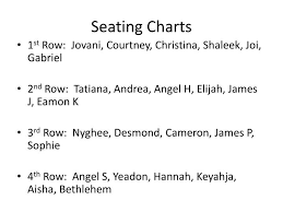Ppt Seating Charts Powerpoint Presentation Free Download