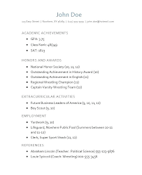 College Application Resume Objective College Application Resume