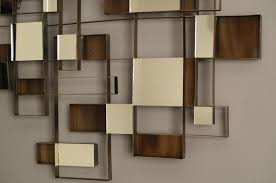 wall art decor 6 square abstract mirrors wall art design home
