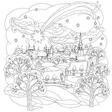 Small Picture Little town in winter by mashabr Christmas Coloring pages for