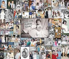 50th Birthday Picture Collage Ideas | Photo Collage Ideas | Professional  Digital Photo Collage Wall of