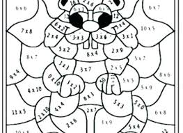 Free Coloring Pages For 3rd Graders Multiplication Coloring Sheets