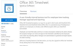 Track Hours Worked App Office 365 Timesheet App Ignatiuz Office 365 Cloud Services