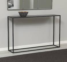 black sofa table. ZEN BLACK METAL CONSOLE -0 Black Sofa Table E