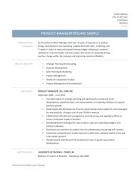 Product Management Resume Template Product Manager Template Management Canvas Cv Sample Uk 48