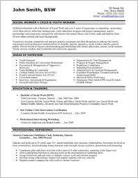 Example Of Professional Social Work Resume Resume Resume
