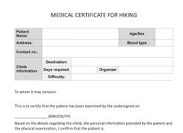 Medical Certificate For Sick Leave New Certificate Medical Certificate Sample