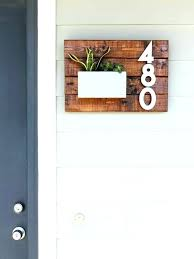 house number signs diy house number plaque plaques within