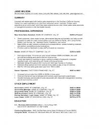 Professional Experience Film Resume Example For New Home Sales
