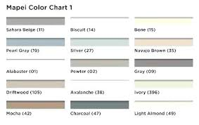 Mapei Color Chart Grout Colors Sanded Samples Mapei Retsag Info
