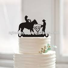 Rustic You Me Groom And Bride Riding Horse Silhouette Cake