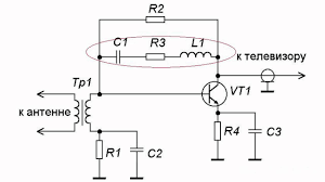 antenna amplifier principle of operation youtube vhf uhf antenna circuit diagram at Vhf Antenna Wiring Diagram