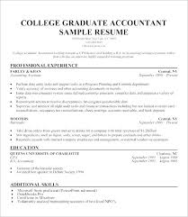 Sample Resume College Graduate Stunning Sample Resume For It Students With College Graduate Resume Samples