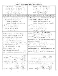 formulas basic algebra formulas crafts templates formulas basic algebra formulas