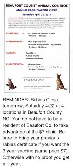 rabies vaccination certificate beaufort county animal control annual rabies vaccine clinic saturday