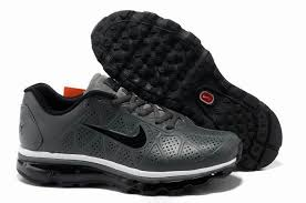 nike air max leather men s running shoes dark grey black white nike max