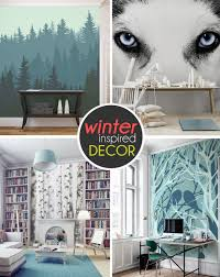 ... Beautiful Wall Decoration for Wonderful Bathroom Ideas : Sleek Wintery Wall  Murals With Beautiful Choises And ...