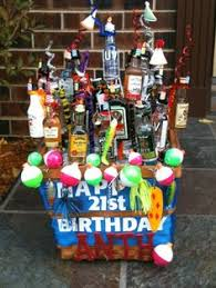 a 21st birthday present my mom made for my boyfriend there are 21 bottles of
