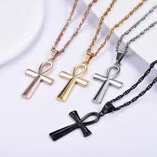 summer new ankh necklace egyptian jewelry mythology vintage key to life african egypt cross pendant