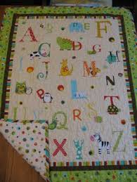 Vintage ABC Handmade Baby Quilt Blanket Comforter Wall Hanging ... & Alphabet baby quilt by mandmbabyboutique on Etsy Adamdwight.com