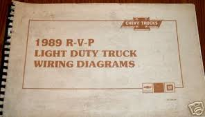 chevy truck wiring 1989 chevrolet r v p electrical diagnosis and wiring diagrams 11 x 17 inch