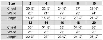 Rj Classics Show Shirt Size Chart Rj Classics Size Charts