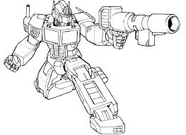 Transformer Coloring Pages Enemy Shooting Transformers Coloring ...