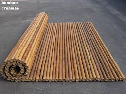 bamboo fencing roll 6ft x 8ft and 8ft x 8ft 1inch and a half diameter to 2 inches diameter every bamboo cane poles are threaded together with