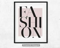 fashion wall art print pink home decor