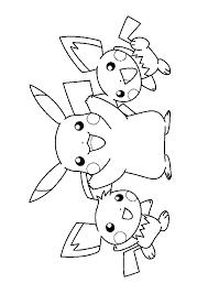 Coloriage Pok Mon Pikachu Et Des Pichus Livres Colorier 45260